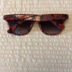Anthropologie Accessories - Anthropologie red, black and purple sunglasses